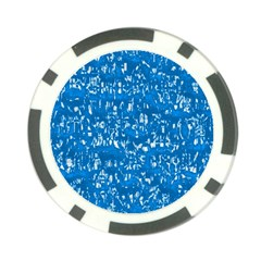 Glossy Abstract Teal Poker Chip Card Guard