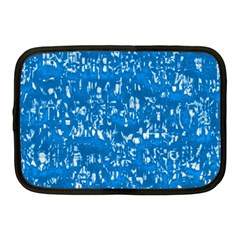 Glossy Abstract Teal Netbook Case (Medium)