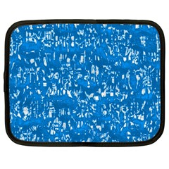 Glossy Abstract Teal Netbook Case (Large)