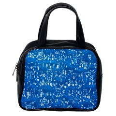 Glossy Abstract Teal Classic Handbags (One Side)