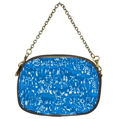 Glossy Abstract Teal Chain Purses (Two Sides)