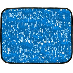 Glossy Abstract Teal Double Sided Fleece Blanket (Mini)