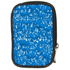 Glossy Abstract Teal Compact Camera Cases