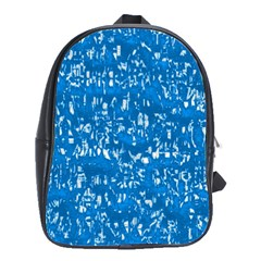 Glossy Abstract Teal School Bags(Large)