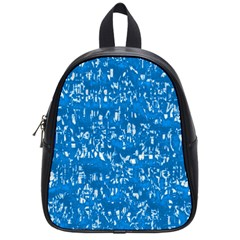 Glossy Abstract Teal School Bags (Small)