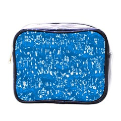 Glossy Abstract Teal Mini Toiletries Bags
