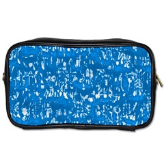 Glossy Abstract Teal Toiletries Bags