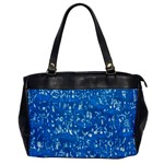 Glossy Abstract Teal Office Handbags Front