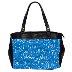 Glossy Abstract Teal Office Handbags (2 Sides)