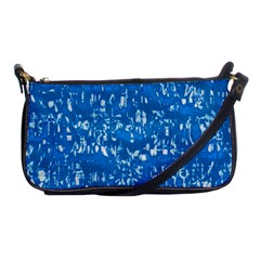 Glossy Abstract Teal Shoulder Clutch Bags