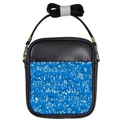 Glossy Abstract Teal Girls Sling Bags
