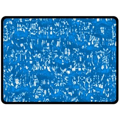 Glossy Abstract Teal Fleece Blanket (Large)