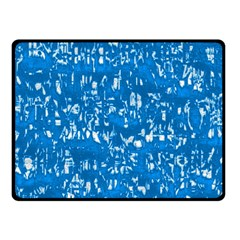 Glossy Abstract Teal Fleece Blanket (Small)