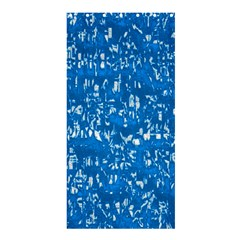 Glossy Abstract Teal Shower Curtain 36  x 72  (Stall)