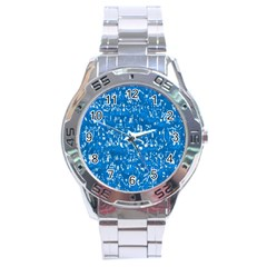Glossy Abstract Teal Stainless Steel Analogue Watch