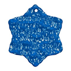 Glossy Abstract Teal Ornament (Snowflake)