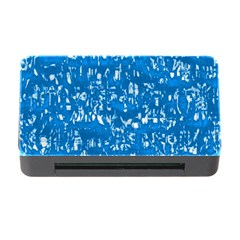 Glossy Abstract Teal Memory Card Reader with CF
