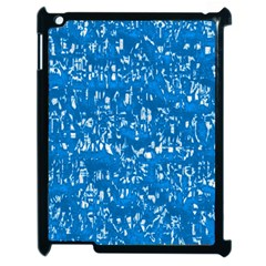 Glossy Abstract Teal Apple iPad 2 Case (Black)