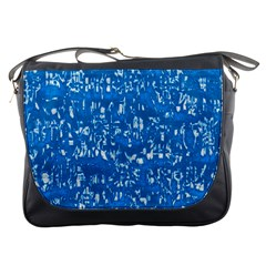 Glossy Abstract Teal Messenger Bags