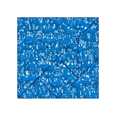 Glossy Abstract Teal Acrylic Tangram Puzzle (4  x 4 )