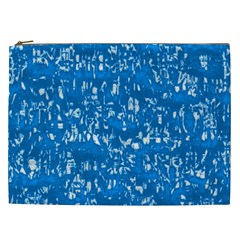 Glossy Abstract Teal Cosmetic Bag (XXL)