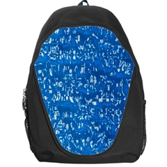 Glossy Abstract Teal Backpack Bag