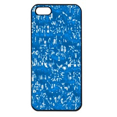 Glossy Abstract Teal Apple iPhone 5 Seamless Case (Black)