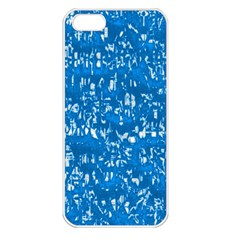 Glossy Abstract Teal Apple iPhone 5 Seamless Case (White)