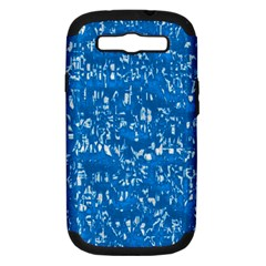 Glossy Abstract Teal Samsung Galaxy S III Hardshell Case (PC+Silicone)