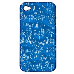 Glossy Abstract Teal Apple iPhone 4/4S Hardshell Case (PC+Silicone)