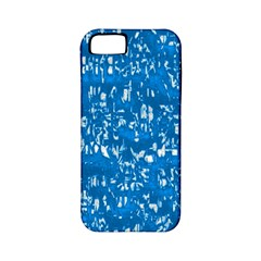 Glossy Abstract Teal Apple iPhone 5 Classic Hardshell Case (PC+Silicone)
