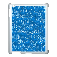 Glossy Abstract Teal Apple iPad 3/4 Case (White)