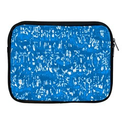 Glossy Abstract Teal Apple iPad 2/3/4 Zipper Cases