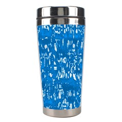 Glossy Abstract Teal Stainless Steel Travel Tumblers