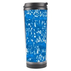 Glossy Abstract Teal Travel Tumbler