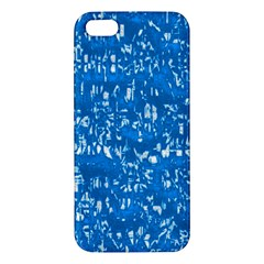 Glossy Abstract Teal iPhone 5S/ SE Premium Hardshell Case