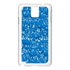 Glossy Abstract Teal Samsung Galaxy Note 3 N9005 Case (White)