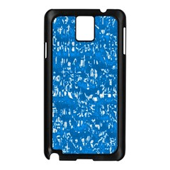 Glossy Abstract Teal Samsung Galaxy Note 3 N9005 Case (Black)