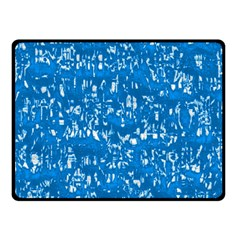 Glossy Abstract Teal Double Sided Fleece Blanket (Small)