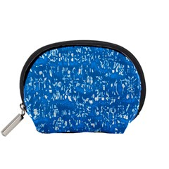 Glossy Abstract Teal Accessory Pouches (Small)