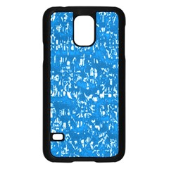 Glossy Abstract Teal Samsung Galaxy S5 Case (Black)