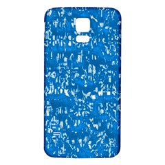 Glossy Abstract Teal Samsung Galaxy S5 Back Case (White)