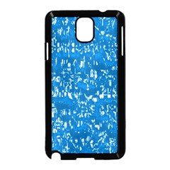 Glossy Abstract Teal Samsung Galaxy Note 3 Neo Hardshell Case (Black)
