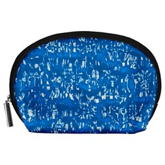 Glossy Abstract Teal Accessory Pouches (Large)