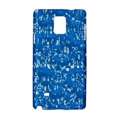 Glossy Abstract Teal Samsung Galaxy Note 4 Hardshell Case