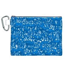 Glossy Abstract Teal Canvas Cosmetic Bag (XL)