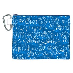 Glossy Abstract Teal Canvas Cosmetic Bag (XXL)