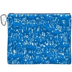 Glossy Abstract Teal Canvas Cosmetic Bag (XXXL)