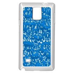 Glossy Abstract Teal Samsung Galaxy Note 4 Case (White)