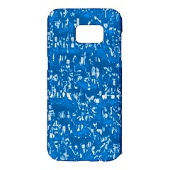 Glossy Abstract Teal Samsung Galaxy S7 Edge Hardshell Case